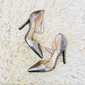 Leather metallic pointed pointy heels Strappy Aldo